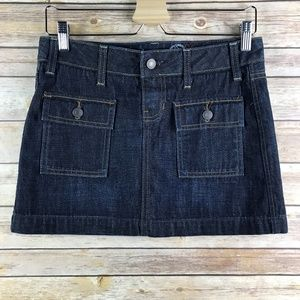 Gap 1969 Dark Wash Mini Denim Skirt (Bin: SK142)